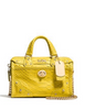 Coach Rhyder Satchel 18 In Python Embossed Leather