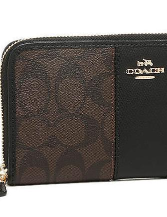 Coach Accordion Zip Wallet in Signature Coated Canvas