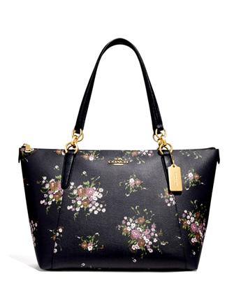 Coach Ava Tote With Floral Bundle Print