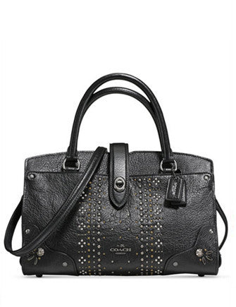 Coach Bandana Studs Mercer Satchel 24 in Grain Leather