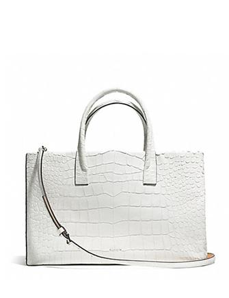 Coach Bleecker Croc Embossed Pinnacle Studio Tote