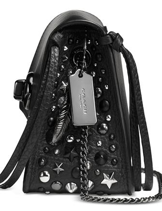 Coach Bowery Crossbody in Refined Calf Leather with Star Rivets