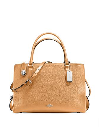 Coach Brooklyn 34 in Pebble Leather