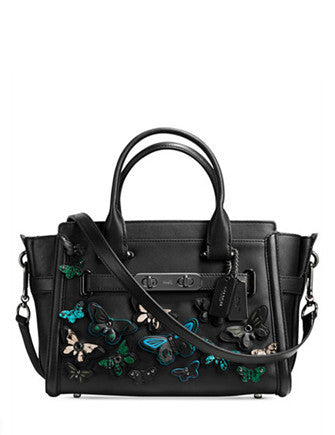 Coach Butterfly Applique Swagger 27 Carryall in Glovetanned Leather