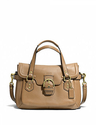 Coach Campbell Small Leather Flap Satchel