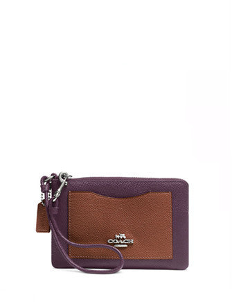 Coach Corner Zip Wristlet in Colorblock Leather