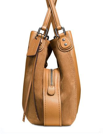 Coach Edie 31 Mixed Leather Shoulder Bag