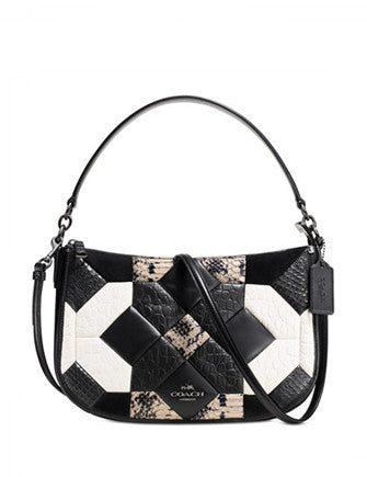 Coach Canyon Quilt Chelsea Crossbody In Exotic Embossed