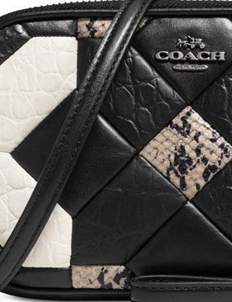 Coach Canyon Quilt Crossbody Clutch in Exotic Embossed Leather