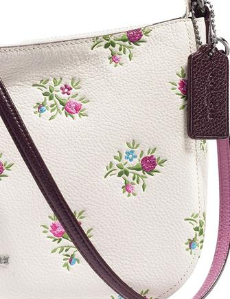 Coach Chelsea Crossbody with Cross Stitch Floral Print