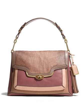 Coach Madison Colorblock Pinnacle Exotic Shoulder Bag