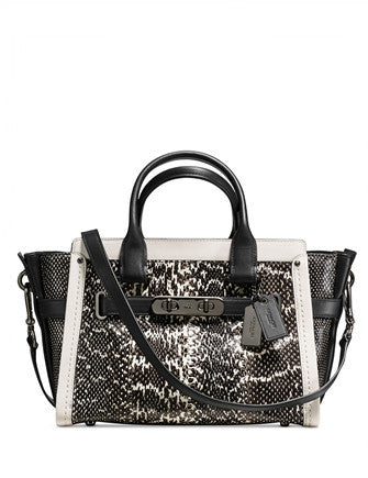 Coach Colorblock Swagger 27 in Genuine Snake