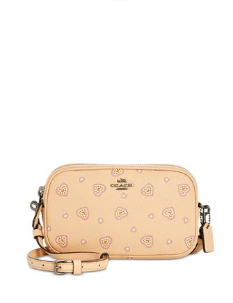 Coach  Crossbody Heart Print Clutch