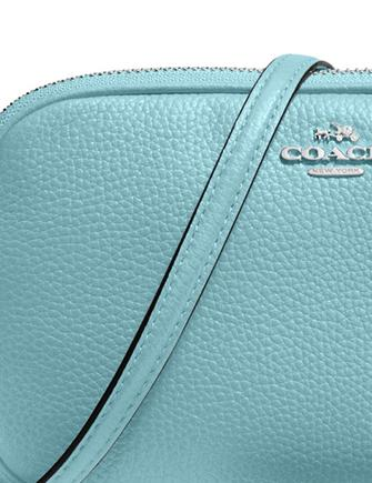 Coach Crossbody Clutch in Pebble Leather