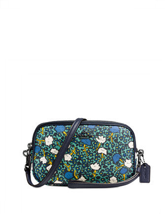 Coach Crossbody Clutch in Yankee Floral Print Canvas