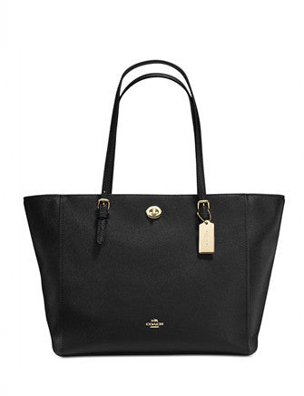 Coach Crossgrain Turnlock Tote in Crossgrain Leather