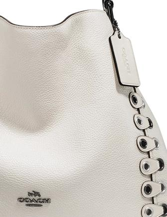 Coach Edie Riveted Shoulder Bag