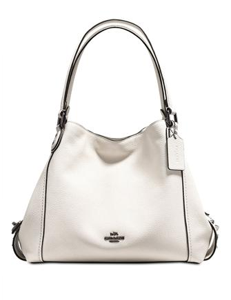 Coach Edie Shoulder Bag 31 in Polished Pebble Leather with Star Rivets