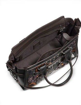 Coach Embellished Canyon Quilt Swagger 27 in Pebble Leather