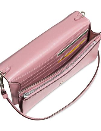 67c54eede33a Coach Foldover Crossbody Clutch In Glovetanned Leather With Tea Rose Tooling
