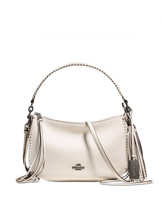 Coach Fringe Chelsea Crossbody in Pebble Leather