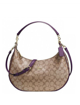 Coach Harley East West Signature Print Hobo Bag