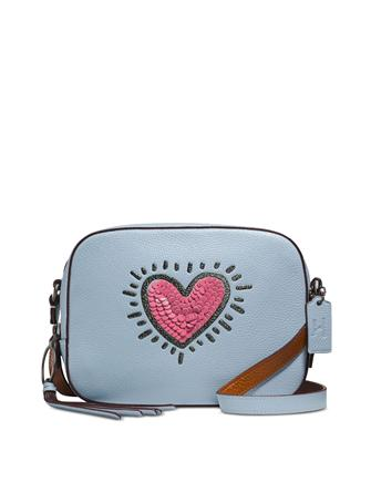 Coach Keith Haring Sequins Heart Camera Bag
