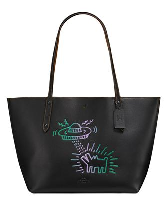 Coach Keith Haring UFO Dog Market Tote