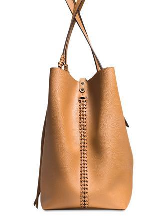 Coach Large Market Tote in Polished Pebble Leather with Whiplash Detail