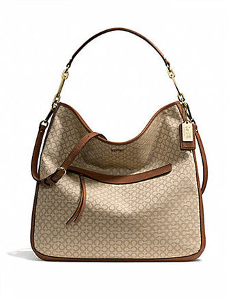 Coach Madison Needlepoint Op Art Hobo