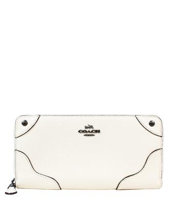 Coach Mickie Accordion Zip Wallet in Grain Leather