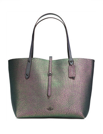 Coach Market Tote in Hologram Leather