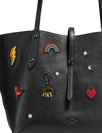 Coach Market Tote with Souvenir Embroidery
