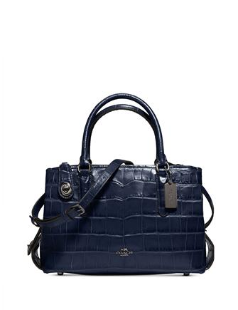 Coach Medium Brooklyn Carryall 28 in Croc Embossed Leather