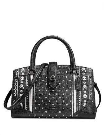Coach Mercer Satchel 24 in Skull Printed Leather