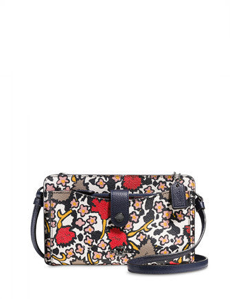 Coach Messenger with Pop Up Pouch in Mixed Yankee Floral Print Canvas