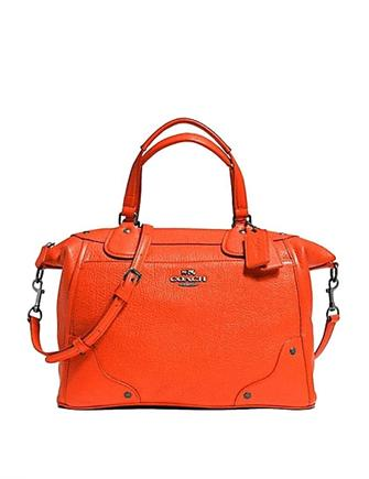 Coach Mickie Satchel In Grain Leather