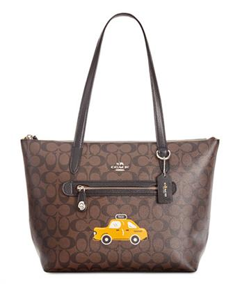 Coach NY Stories Taxi Signature Taylor Tote