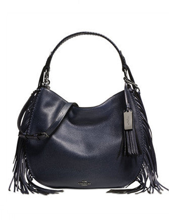 Coach Nomad Fringe Hobo in Pebble Leather
