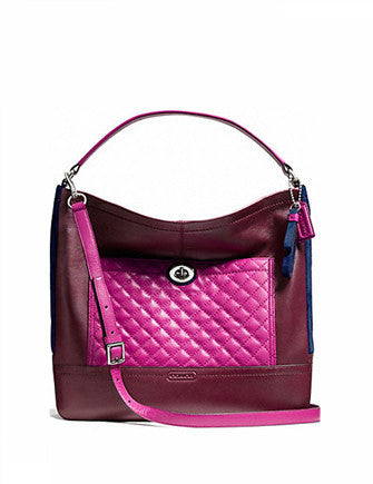 Coach Park Colorblock Quilted Leather Hobo