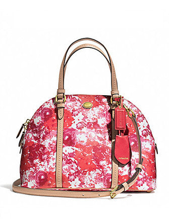 Coach Peyton Floral Cora Domed Satchel
