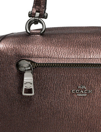 Coach Primrose Satchel in Metallic Pebble Leather