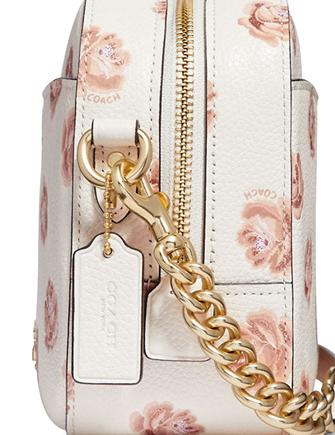 Coach Rose Print Camera Crossbody