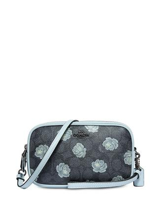 Coach Signature Rose Print Crossbody Clutch