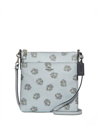 Coach Rose Print Messenger Crossbody