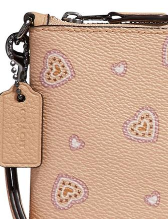 Coach Small Heart Wristlet