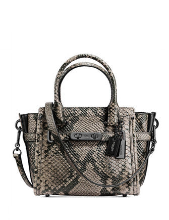 Coach Swagger 21 Carryall in Snake Embossed Leather