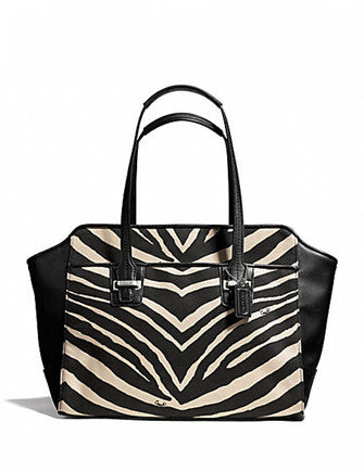 Coach Taylor Zebra Carryall Shoulder Bag