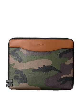 Coach Tech Case in Camo Print Coated Canvas