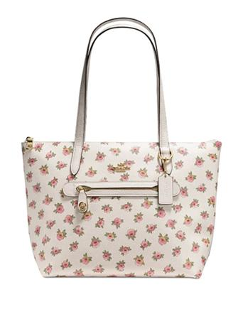 Coach Taylor Tote In Flower Patch Print Coated Canvas